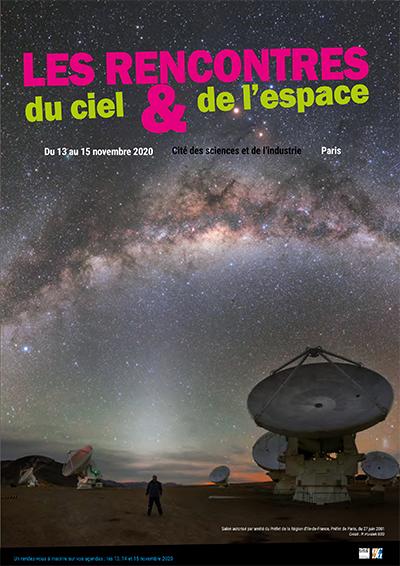 Les Rencontres du Ciel et de l'Espace sont reportées à 2021 @ Cité des Sciences et de l'industrie de Paris